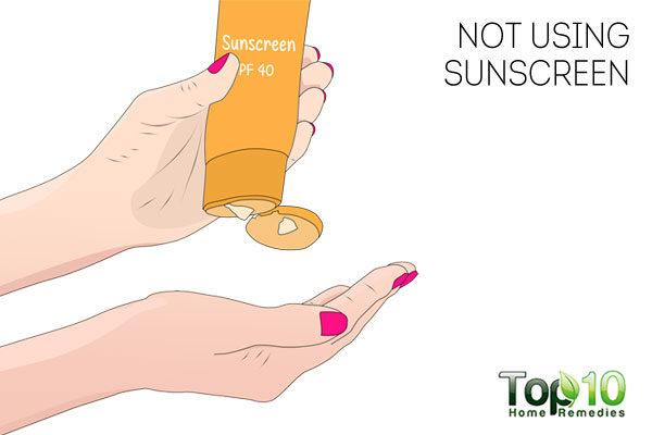 Not using sunscreen puts immunity in danger