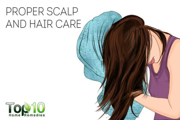 Proper scalp and hair care can both prevent and treat scalp sores