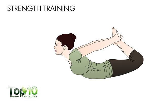 Do strength training to tighten loose skin after pregnancy