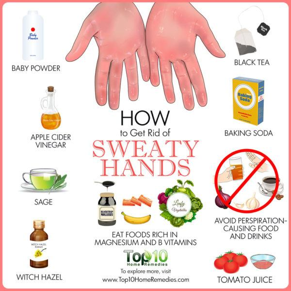 How to get rid of sweaty hands