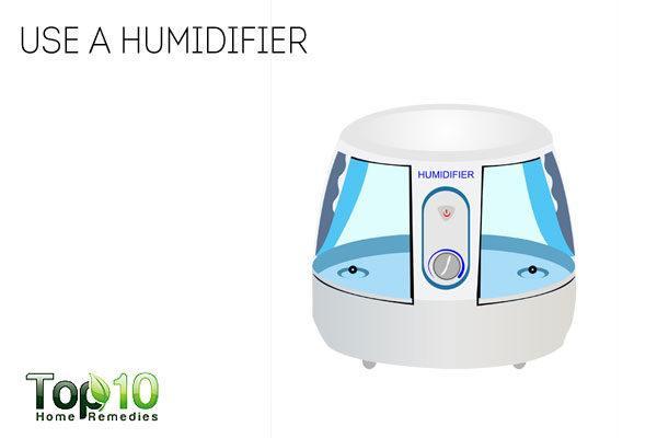 use a humidifier to avoid dandruff