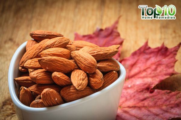 Consume almonds to get relief from heartburn