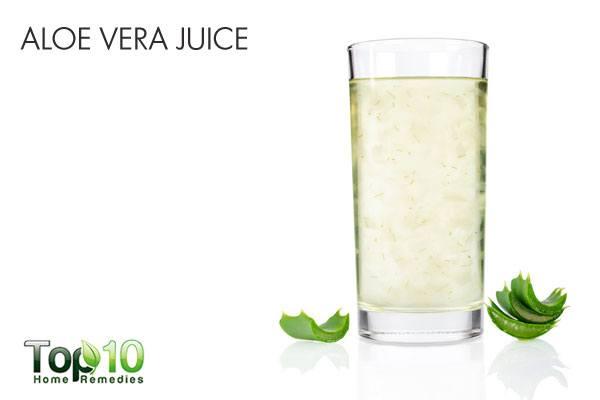 Aloe vera gel for heartburn