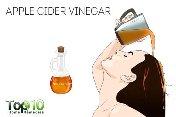 Use apple cider vinegar to treat scalp sores