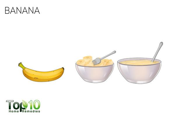 Apply mashed bananas to treat dry scalp successfully