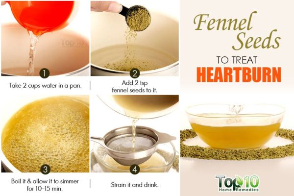 Use fennel seeds for heartburn