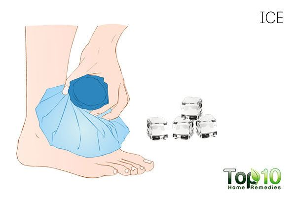 Use ice therapy to treat a sore big toe