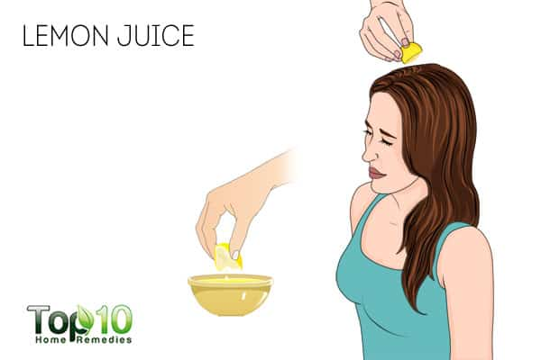 Use lemon juice to treat scalp sores
