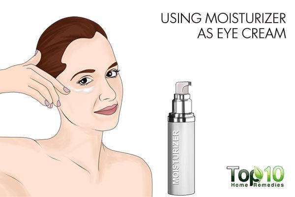 avoid using moisturizer as eye cream