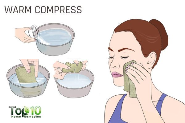 warm compress to treat acne during pregnancy