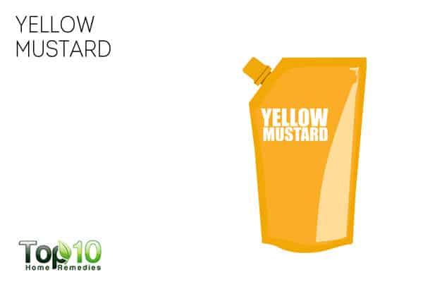 Use yellow mustard for leg cramps