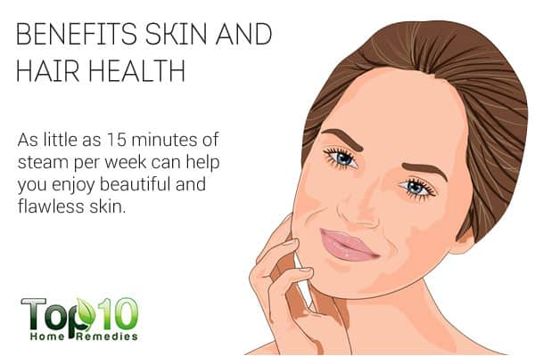 Steam therapy benefits skin and hair health