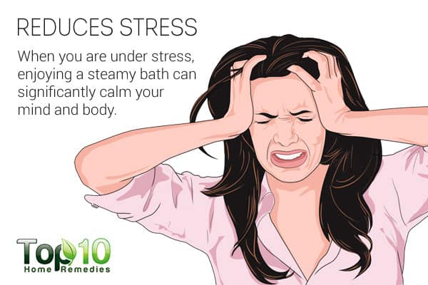 Steam therapy reduces stress
