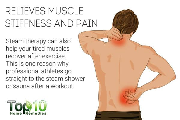 Steam therapy expels muscle stiffness and pain