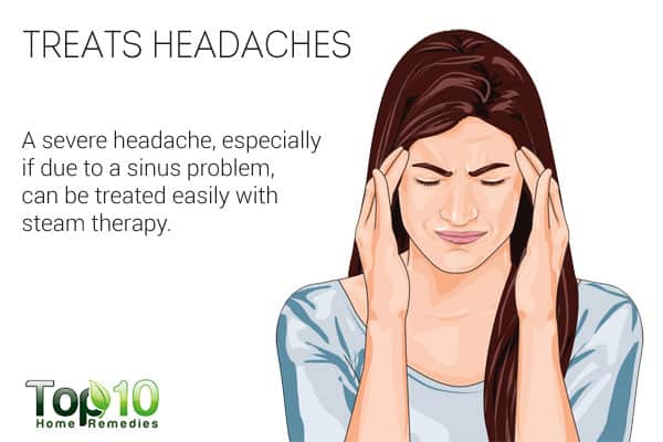 Steam therapy treats headaches