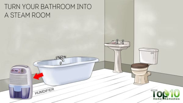 Turm your bathroom into a steam room for steam therapy