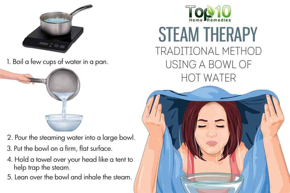 Use a bowl of hot water for steam therapy  sc 1 st  Top 10 Home Remedies & Know the Amazing Benefits of Steam Therapy | Top 10 Home Remedies