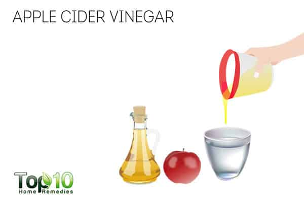 Use apple cider vinegar to get rid of neck fat