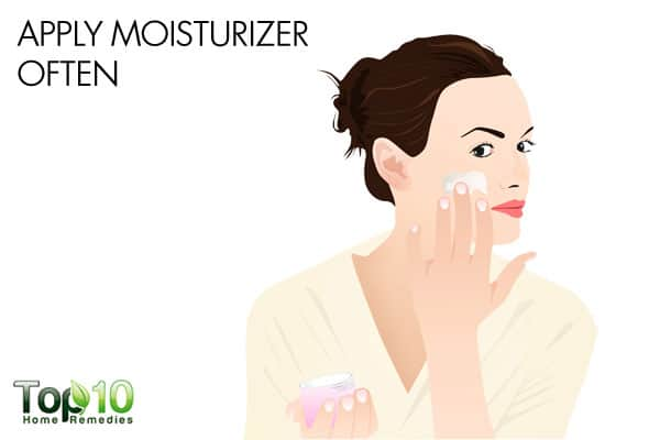 Apply moisturizer often to deal with winter eczema