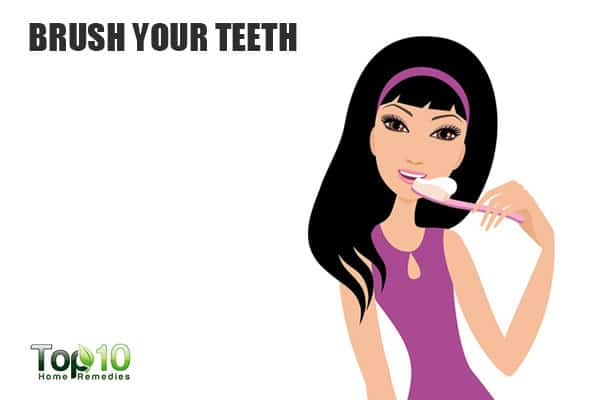 Brush your teeth to suppress your cravings and eat less