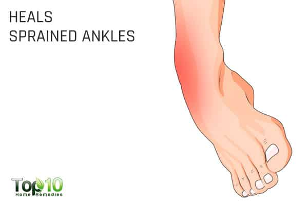 Cabbage helps heal a sprained ankle