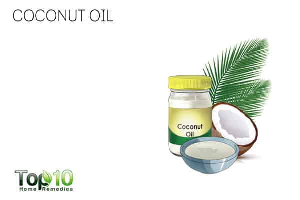 Use coconut oil to get rid of neck fat