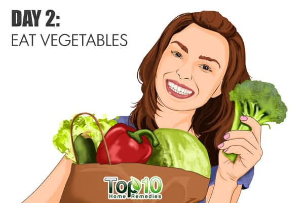 eat vegetables on day 2 of the gm diet