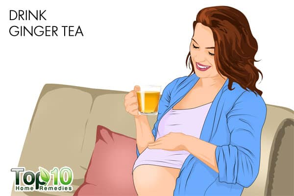 drink ginger tea for heartburn during pregnancy