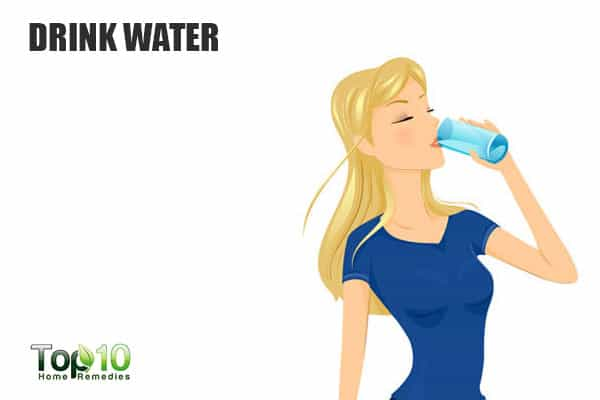 Drink water to suppress your cravings and eat less
