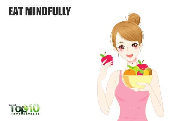 Eat mindfully to suppress your cravings and eat less