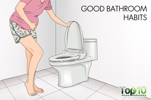good bathroom habits to treat UTI during pregnancy