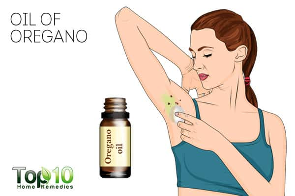 Use oil of oregano to get rid of skin tags on armpits