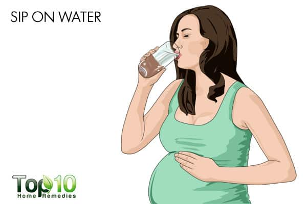 sip water for heartburn during pregnancy