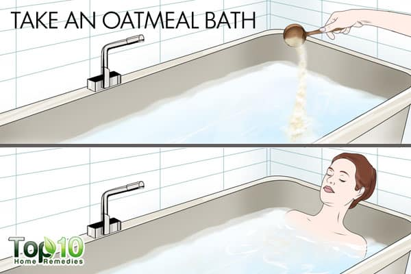 Take an oatmeal bath to deal with winter eczema