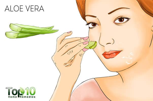 Use aloe vera to treat peeling skin on face