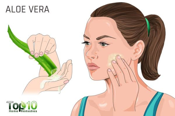 Use aloe vera for white spots on face