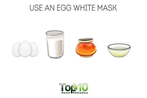 Use an egg white mask to get rid of neck fat