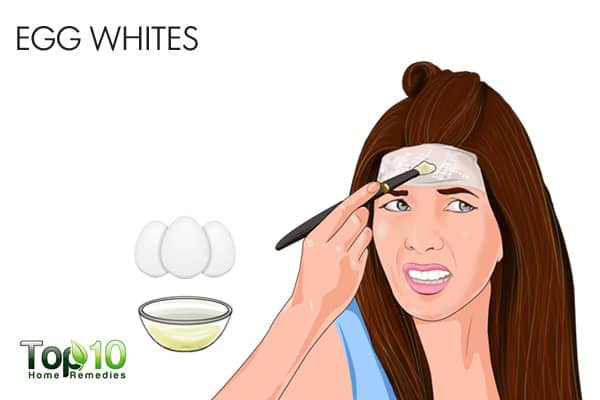 Use egg whites for bumps on forehead