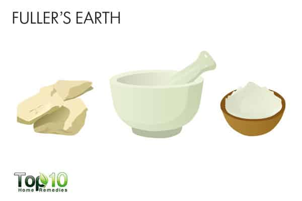 Use fuller's earth for bumps on forehead