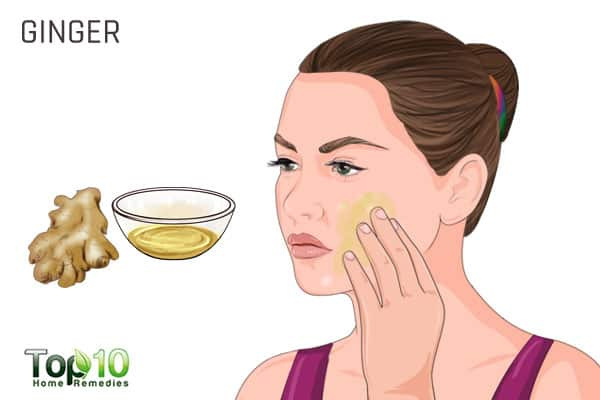 Use ginger for white spots on face
