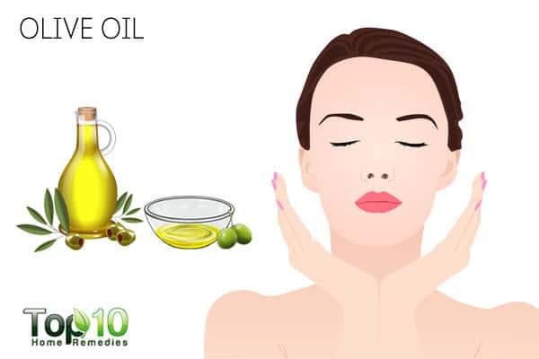 Use olive oil to treat peeling skin on face
