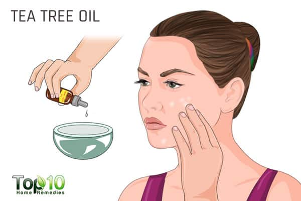 Use tea tree oil for white spots on face