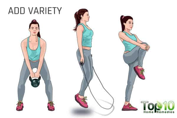 Add variety to exercises