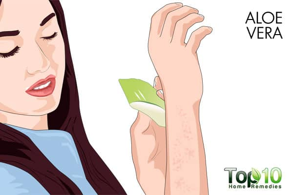 aloe vera to get rid of bumps on arms