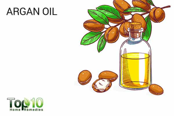 argan oil to treat smile lines