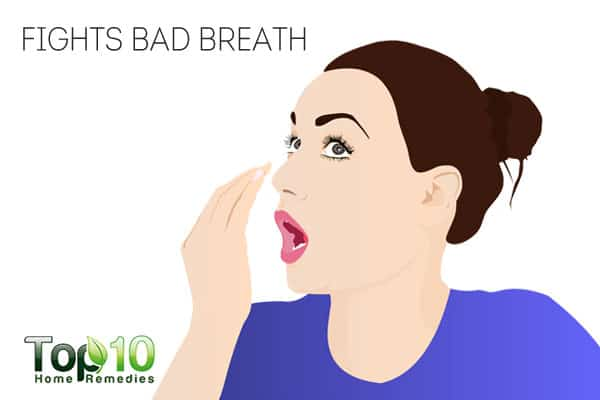chewing sugar-free gum fights bad breath