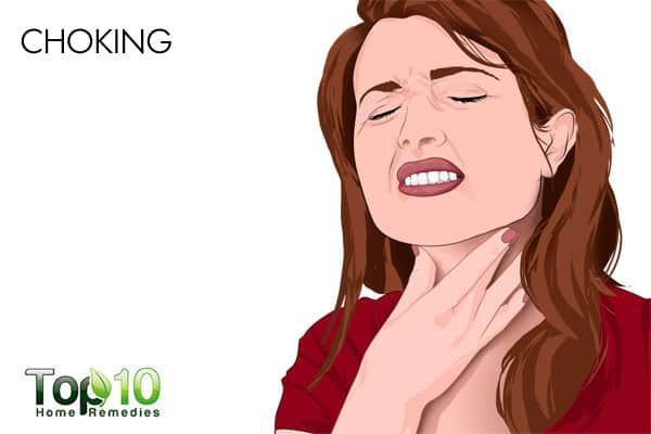 choking causes rapid shallow breathing