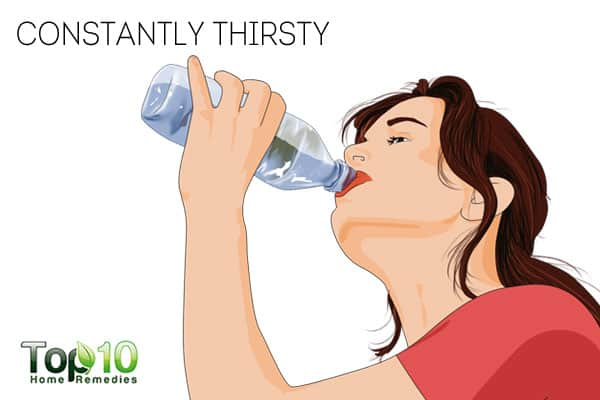 constantly thirsty-signs that you are not managing diabetes properly