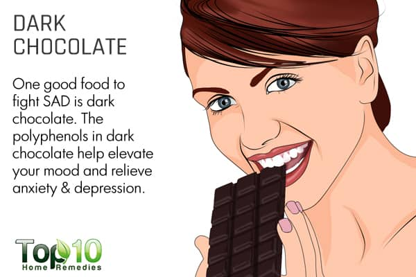 dark chocolate to fight seasonal affective disorder