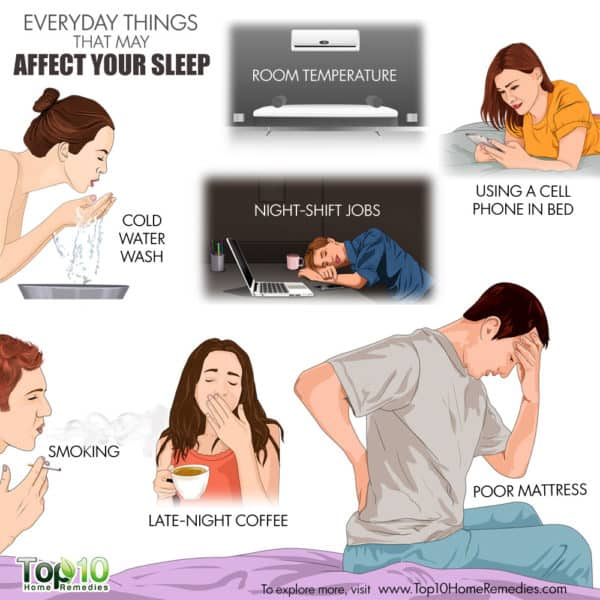 everyday things that may affect sleep